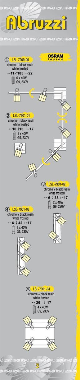 Технические характеристики светильника Abruzzi LSL-7901-04