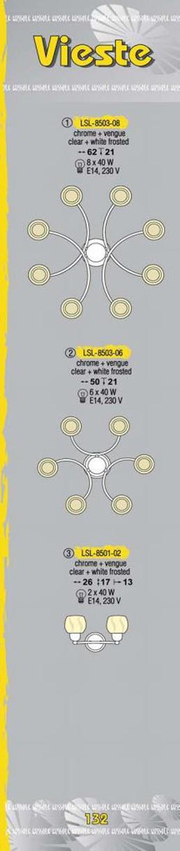 Технические характеристики светильника Vieste LSL-8503-08