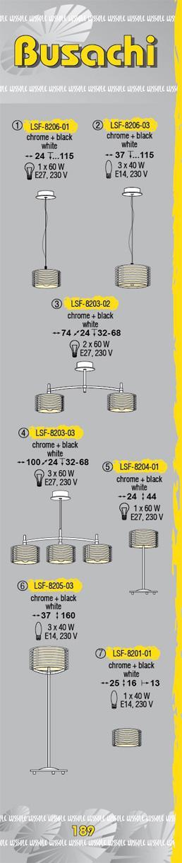 Технические характеристики светильника Busachi LSF-8203-02