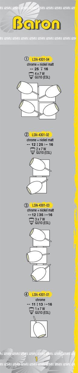 Технические характеристики светильника Baron LSN-4301-04