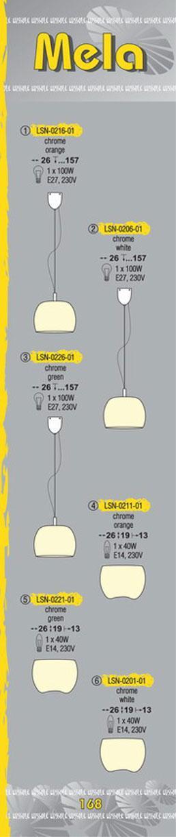 Технические характеристики светильника Mela LSN-0216-01