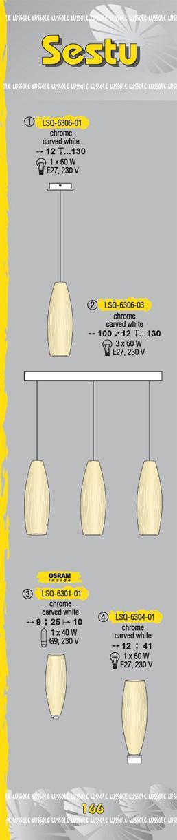Технические характеристики светильника Sestu LSQ-6306-03