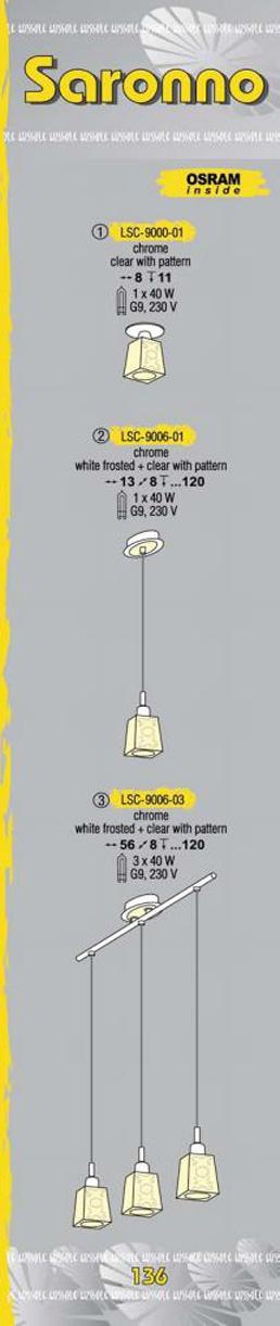 Технические характеристики светильника Saronno LSC-9006-03