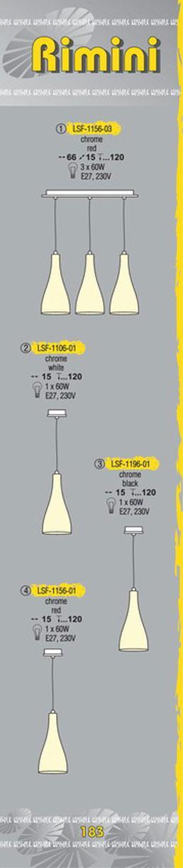Технические характеристики светильника Rimini LSF-1156-03