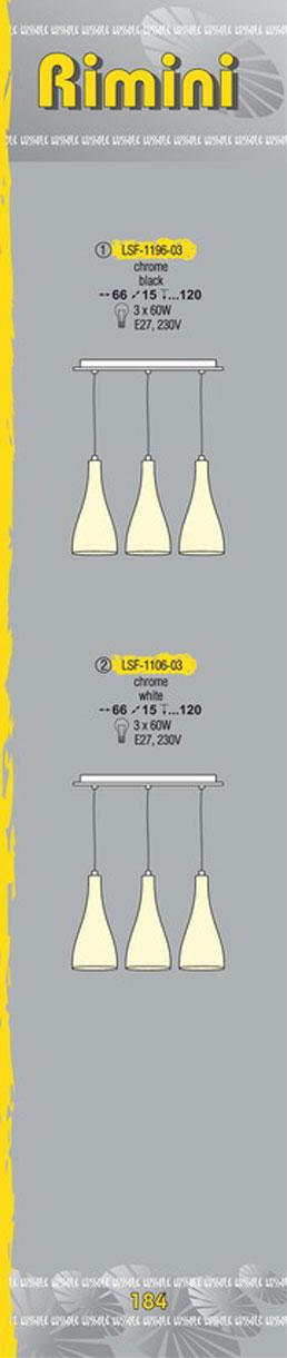 Технические характеристики светильника Rimini LSF-1196-03
