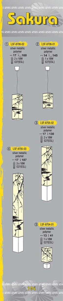 Технические характеристики светильника Sakura LSF-8705-03