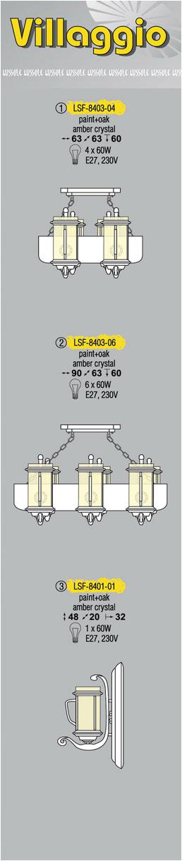Технические характеристики светильника Bellona LSF-8606-01