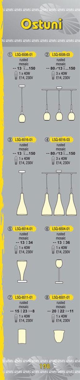 Технические характеристики светильника Ostuni LSQ-6516-03