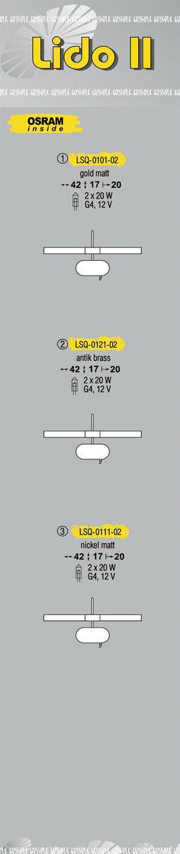 Технические характеристики светильника Lido LSQ-0101-02