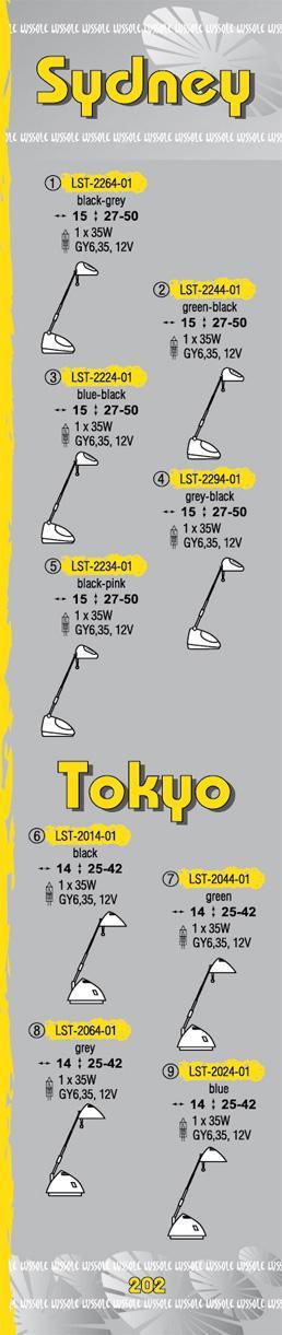 Технические характеристики светильника Sydney_Tokyo