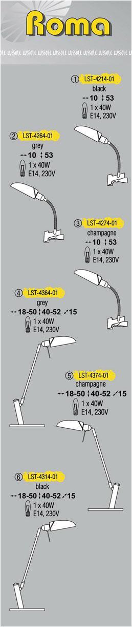 Технические характеристики светильника Roma LST-4314-01