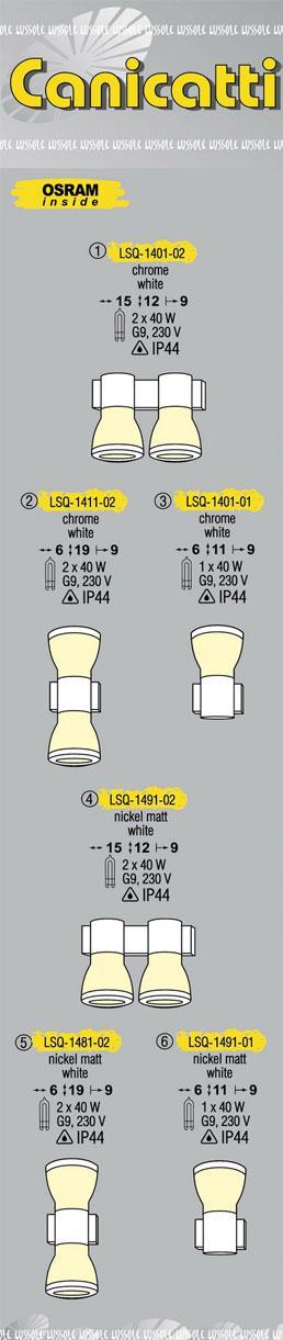 Технические характеристики светильника Canicatti LSQ-1411-02