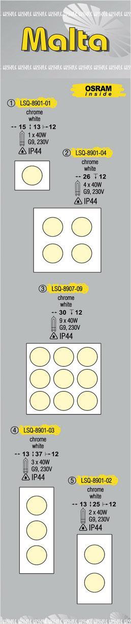 Технические характеристики светильника Malta LSQ-8901-03