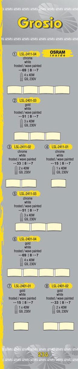 Технические характеристики светильника Grosio LSL-2401-04