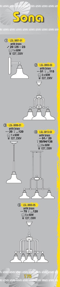 Технические характеристики светильника Sona LSL-3003-05