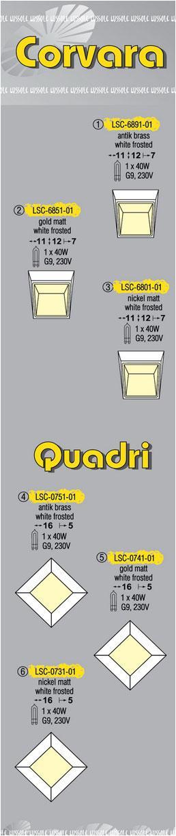 Технические характеристики светильника Corvara LSC-6891-01