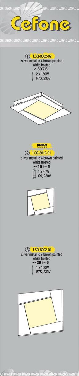Технические характеристики светильника Cefone LSQ-8002-02