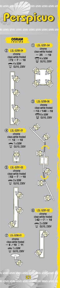 Технические характеристики светильника Perspicuo LSL-5291-03