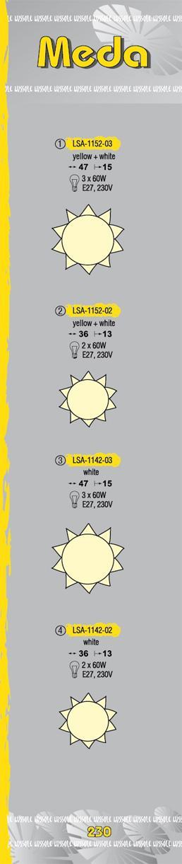 Технические характеристики светильника Meda LSA-1152-03