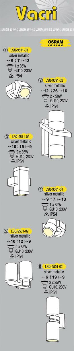 Технические характеристики светильника Vacri LSQ-9501-01