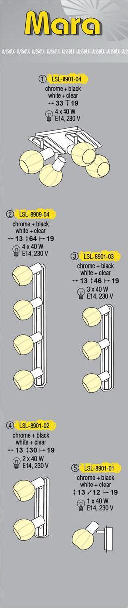 Технические характеристики светильника Mara LSL-8901-04