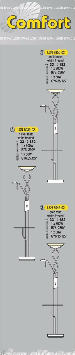 Технические характеристики светильника Comfort LSN-8955-02