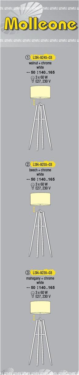 Технические характеристики светильника Molleone LSN-9235-03
