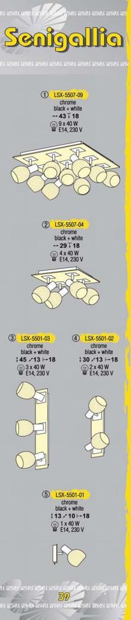 Технические характеристики светильника Senigallia LSX-5507-09