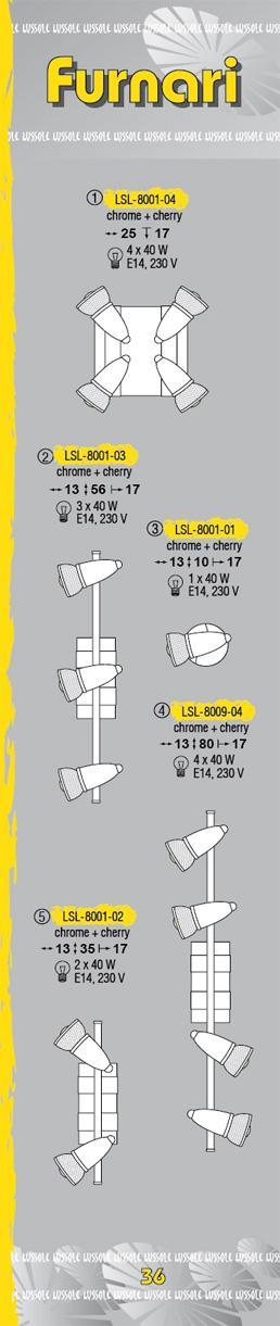 Технические характеристики светильника Furnari LSL-8001-04