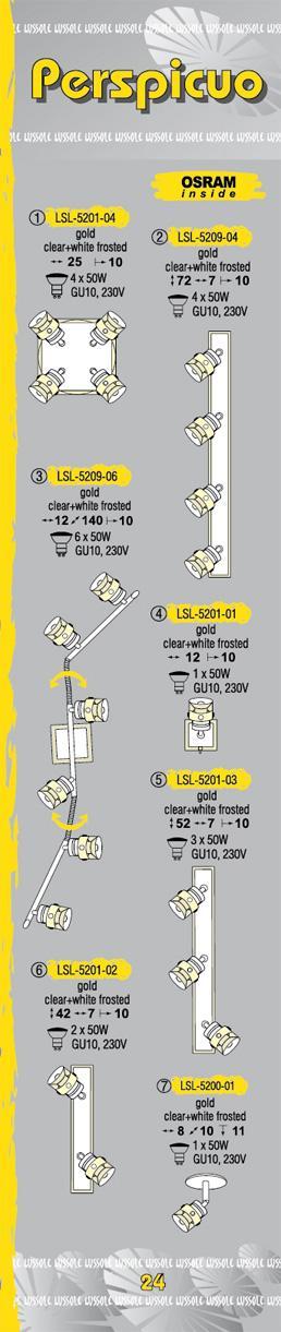 Технические характеристики светильника Perspicuo LSL-5209-04