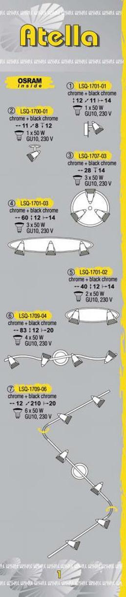 Технические характеристики светильника Atella LSQ-1709-04