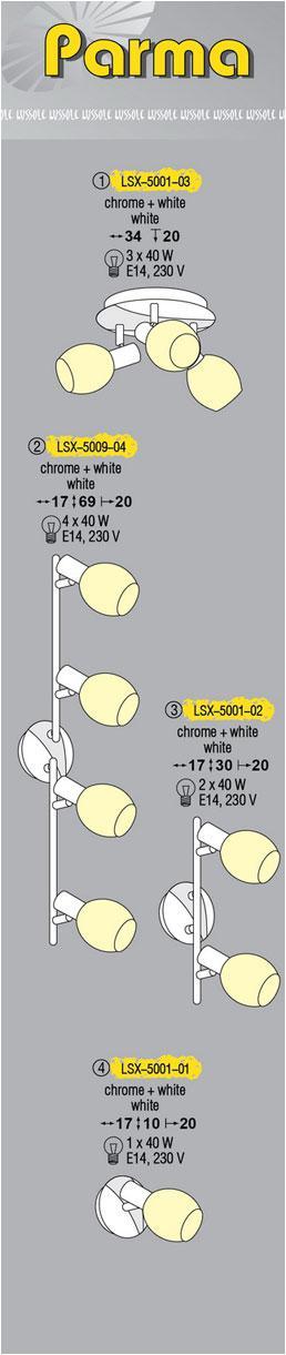 Технические характеристики светильника Parma LSX-5001-03