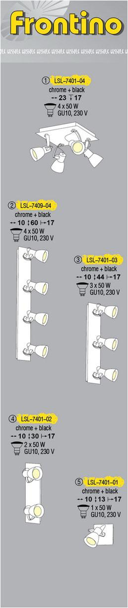 Технические характеристики светильника Frontino LSL-7401-04