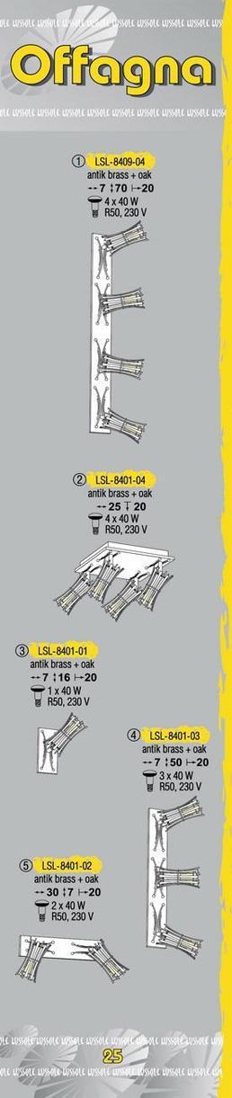 Технические характеристики светильника Offagna LSL-8401-04