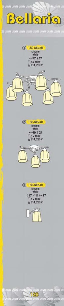 Технические характеристики светильника Bellaria LSC-8803-06