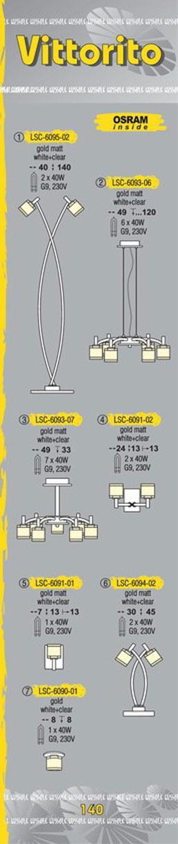 Технические характеристики светильника Vittorito LSC-6093-07