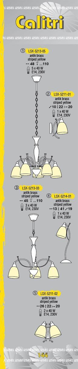 Технические характеристики светильника Calitri LSX-5213-03
