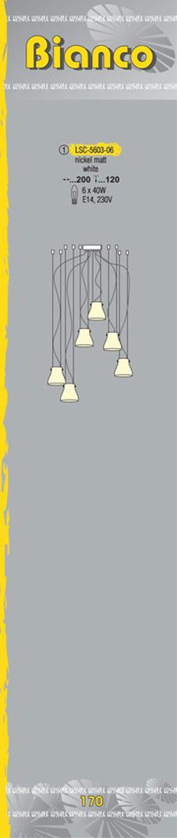 Технические характеристики светильника Bianco LSC-5603-06