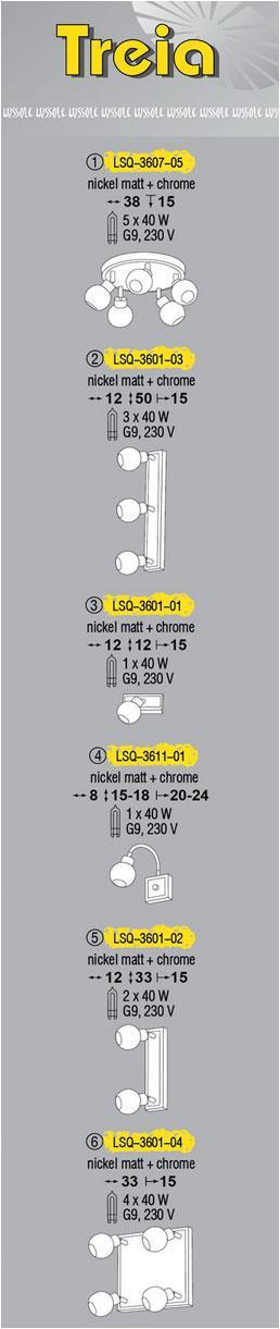 Технические характеристики светильника Treia LSQ-3607-05