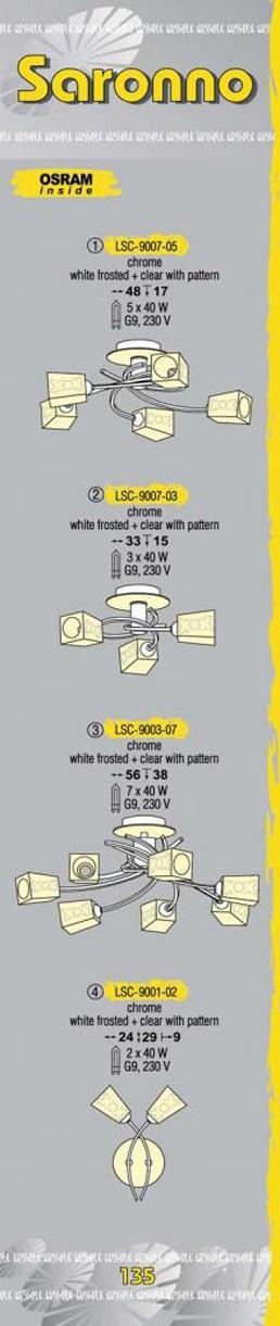 Технические характеристики светильника Saronno LSC-9007-07