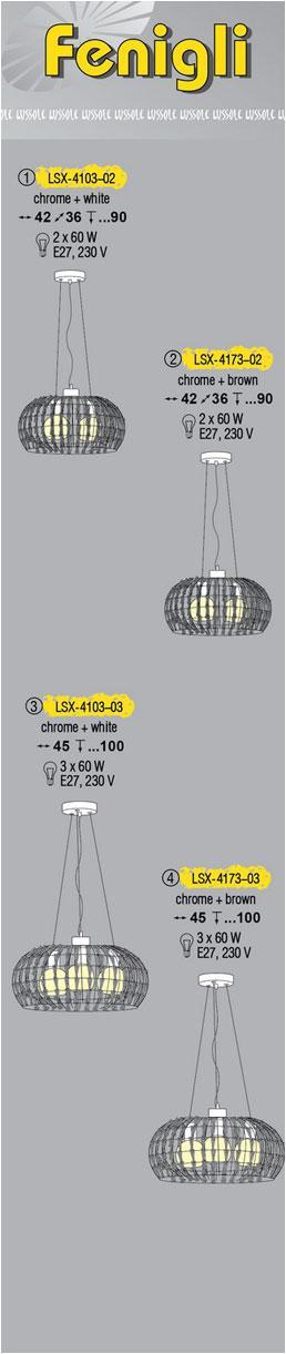 Технические характеристики светильника Fenigli LSX-4173-02