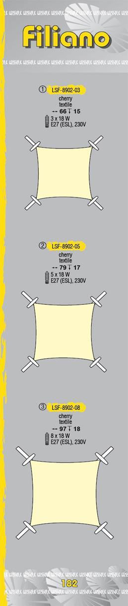 Технические характеристики светильника Filiano LSF-8902-05