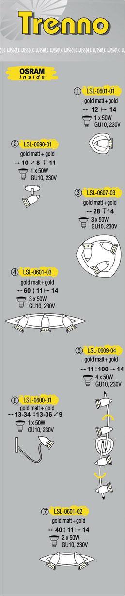 Технические характеристики светильника Trenno LSL-0601-03