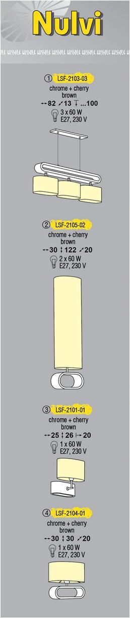 Технические характеристики светильника Nulvi LSF-2103-03
