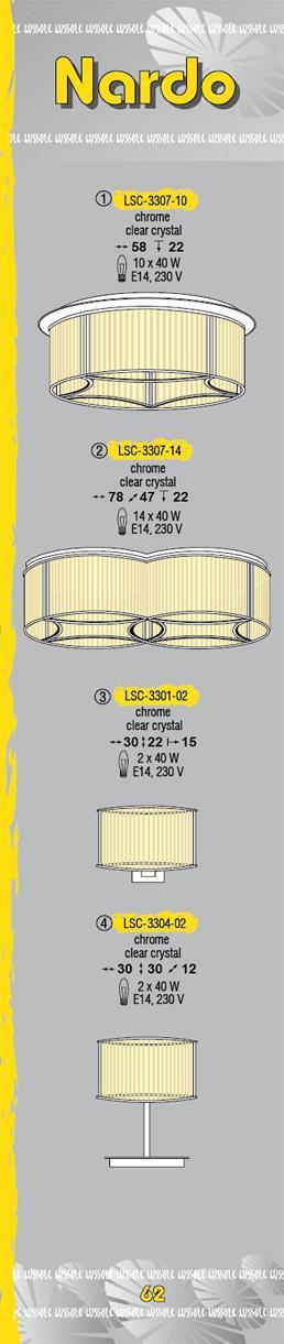 Технические характеристики светильника Nardo LSC-3307-10