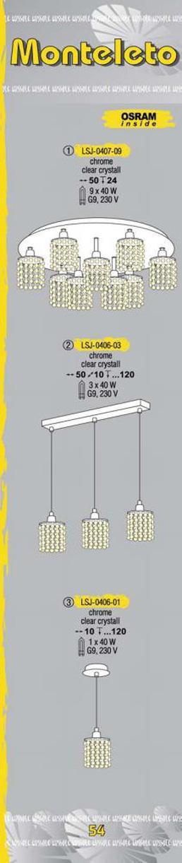 Технические характеристики светильника Monteleto LSJ-0406-03