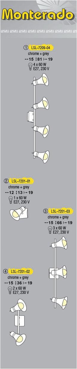 Технические характеристики светильника Monterado LSL-7209-04