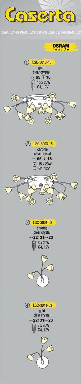 Технические характеристики светильника Caserta LSC-3003-15
