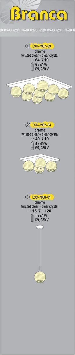 Технические характеристики светильника Branca LSC-7907-09