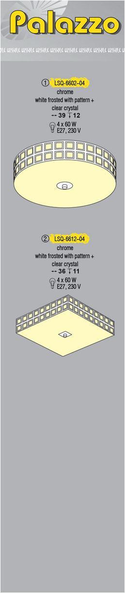 Технические характеристики светильника Palazzo LSQ-6602-04